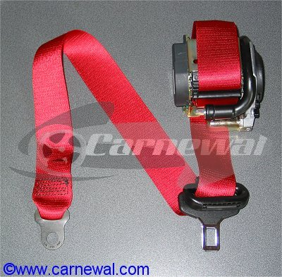 Colored front seat belts