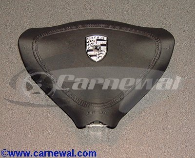 Leather Airbag Module for 3-Spoke Steering Wheel