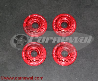 Red Center Lock Wheel Nuts